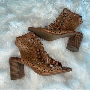 Jeffrey Campbell strapped chunk heels with stars
